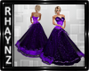 Purple and Black Gown