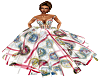 military patch ballgown