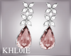 K diamond pink earings