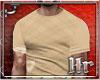 Hr| Plaid Beige T Shirt