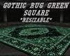 {DBA} GOTHIC RUG  GREEN