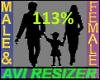 113% Tall