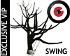 Rustic tree swing
