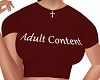 Adult Content Tee Red
