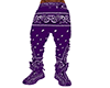 PURPLE BANDANA PANTS
