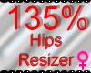 *M* Hips Resizer 135%
