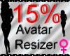 *M* Avatar Scaler 15%