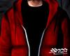 Red Denim Hoodie