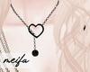 🌸 Heart Necklace Blck
