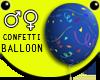 Blue Confetti Balloon