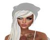 shiny silver hat hair