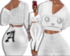 White Anime Crop Sweater