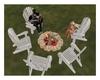 White Boho Chairs & Fire