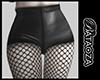 Leather short + mesh