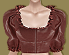Brick Leather Blouse