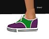 Green and Purple Vans