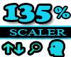 135% Scaler Head Resizer