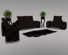 A~Sexy Brown Sofa Set