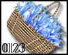 *0123* Shiny Blue Basket