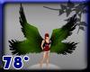 green black wings angel