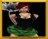 [Mdh]GRN plaid Skirt/top