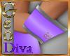 Geo Cuffs M W/Purple