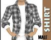 Grey Checkered Shirt {M}