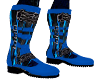 blue lightening boots