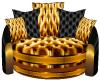 Padded Gold sofa