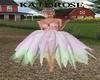 Pink & green Fairy Dress