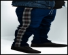 Fall Jeans w Flannel Blk