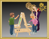 Children & Easel*
