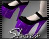 .Purple Pvc Heels.