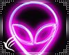 Neon Wall Alien