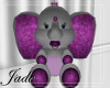 ELEPHANT TOY PURPLE