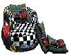 {BA69} Racing kiss sofa