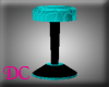 (DC)Bar Stool Teal