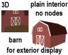 3D Background Barn