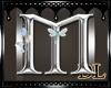 silver letter M