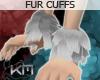 +KM+ Fur Cuffs Silver