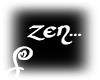"""=S= """"Zen"""" Sign Neon Wh"""