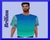 [B] Teal Blue Shirt