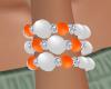 Orange Pearl braclet