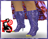 *Purple Velvet Boots
