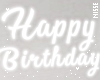 n| White Birthday Sign