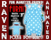 BLUE POLKA MONSTER FURN
