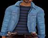 striped T-shirt +jacket