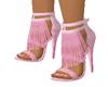 light pink fringe heels