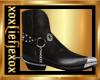 [L] Cowboy Boots Black M