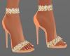 H/Peach Strappy Heels